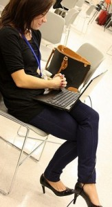 Bad laptop posture!