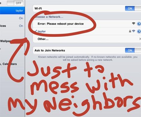 Mean wi-fi name!