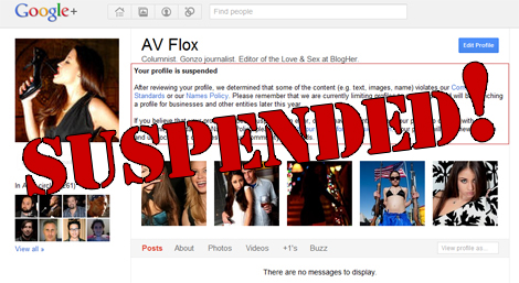 Suspended Google+ Profile