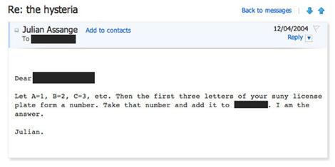 Julian Assange's love emails