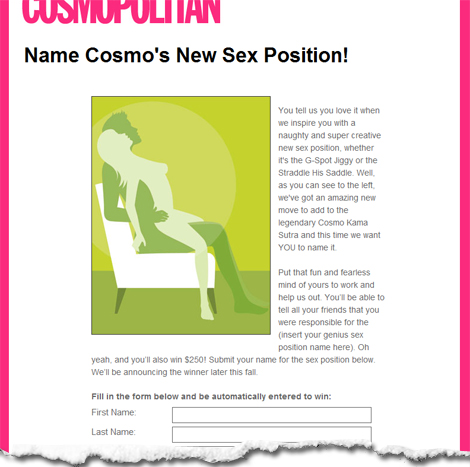 Cosmo position name contest