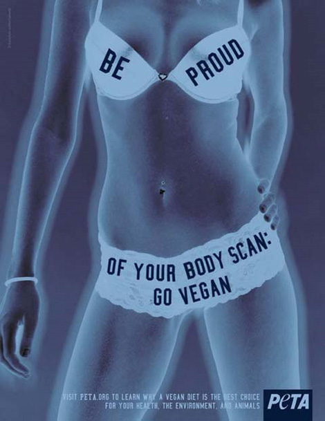 PETA's go vegan ad