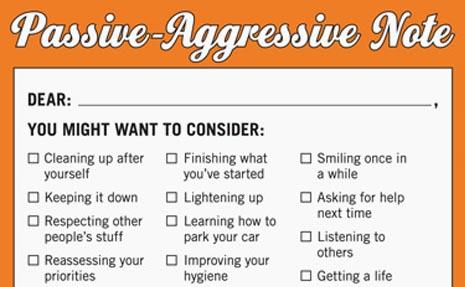 Passive Aggressive Pad