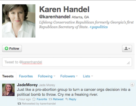Karen Handel's regrettable retweet