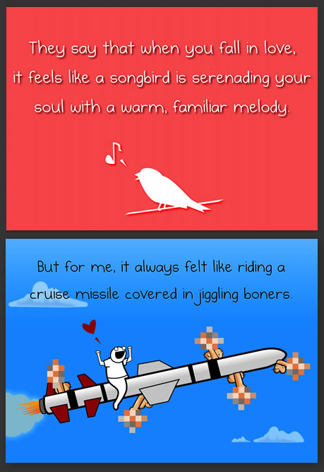 The Oatmeal horrible valentine's day cards