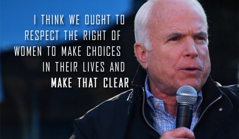 John  McCain defects from war on women